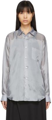 Comme des Garçons Shirt Grey Cupro Taffeta Forever Shirt