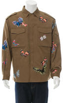 Valentino Butterfly-Embroidered Military Jacket w/ Tags