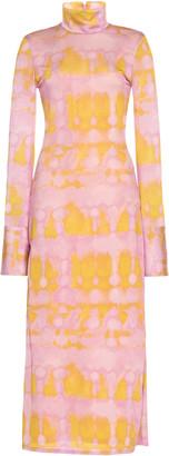 Ellery Seychelles Tie-Dye Stretch-Crepe Dress