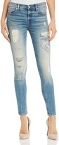 True Religion Halle Super Skinny Jeans in Mended Indigo Cascade