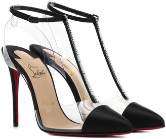 Christian Louboutin Nosy Strass 100 satin pumps