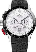 Edox Men's 10305 3NR AN Chronorally 1 Analog Display Swiss Quartz Black Watch