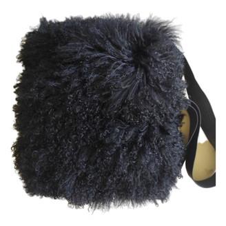 Gareth Pugh Black Mongolian Lamb Backpacks