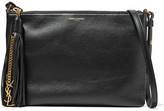 Saint Laurent Monogramme Teen Tasseled Leather Shoulder Bag - Black