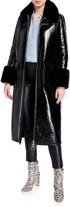 Stand Kristen Long Coat w/ Faux Fur