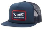 Brixton Men's Grade Snapback Cap - Blue