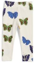 Mini Rodini Infant Girl's Butterflies Organic Cotton Leggings