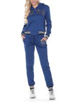 Stanzino Blue 'Love' Varsity-Stripe Sweatsuit
