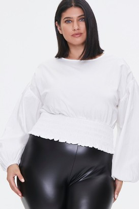 Forever 21 Plus Size Balloon-Sleeve Top