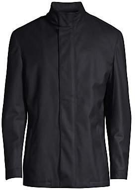 Corneliani Men's Caban Textured Wool Jacket