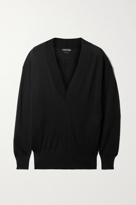 Tom Ford Cashmere And Silk-blend Sweater - Black