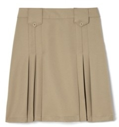 French Toast Little Girls Front Pleated Skirt with Tabs