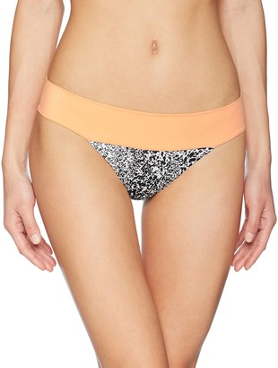 RVCA Junior's Marble Medium Bikini Bottom