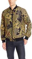 Versace Men's Gold Printed Bomber Jacket
