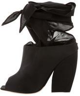 Christian Dior Grosgrain Peep-Toe Booties