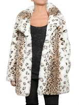 American Retro - Leopard Print Eco Fur Coat