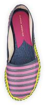 Webster Sophia Juana Striped Espadrille Flat, Navy/Pink