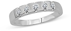 Bloomingdale's Men's Diamond 5-Stone Band in 14K Brushed White Gold, 0.25 ct. t.w. - 100% Exclusive