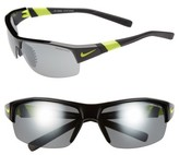 Nike Men's 'Show X2' Semi Rimless 69Mm Sunglasses - Black/ Voltage