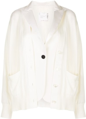 Sacai Relaxed-Fit Layered Blazer