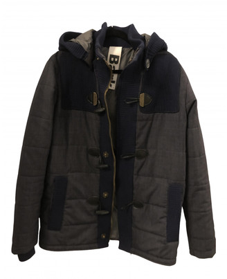 Bark Blue Polyester Jackets