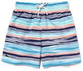 Lacoste Boy's Striped Nylon Swim Shorts