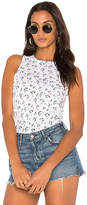 Stateside Floral Print Tank in White. - size L (also in M,XS)