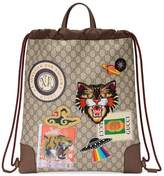 Gucci Courrier soft GG Supreme drawstring backpack