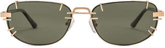 Y/Project Pronged Sunglasses in Horn, Light Gold & Olive Green | FWRD