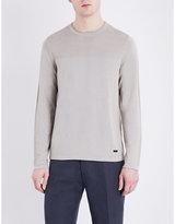 Armani Collezioni Silk And Cotton-blend Knitted Jumper