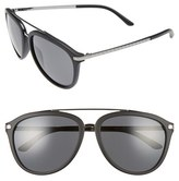 Versace Women's 58Mm Aviator Sunglasses - Matte Black
