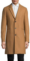 Ps By Paul Smith Twill Wool-Blend Overcoat