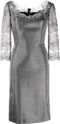 Ermanno Scervino lace sleeve sheath dress