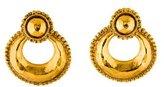 Chanel Hammered Doorknocker Clip-On Earrings