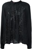 Giamba lace panel blouse