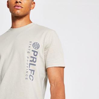River Island Prolific stone print short sleeve t-shirt