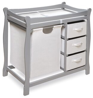Rosanna Changing Table with 3 Basket and Hamper Viv + Rae