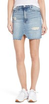 Mother Women's The Sacred Slit Denim Miniskirt