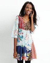 Johnny Was Patchwork Voile A-line Tunic