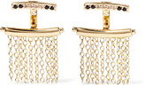 Elizabeth and James Vago gold-tone crystal earrings