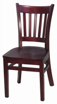 DHC Furniture Side Upholstered Dining Chair Furniture Frame Color: Mahogany, Upholstery Color: Not Upholstered