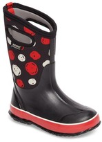 Bogs Girl's Classic Sketched Dots Insulated Waterproof Boot