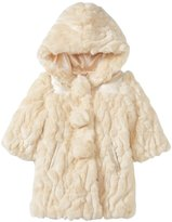Billieblush Faux Fur Coat With Mittens (Toddler) - Craie-2T