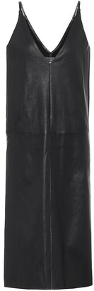 STOULS Mahaut leather slip dress