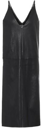 STOULS Mahaut leather slip dress