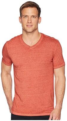 Lucky Brand Venice Burnout V-Neck Tee (Bossa Nova) Men's Clothing