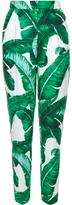 Dolce & Gabbana Banana leaf-print high-rise trousers