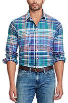 Polo Ralph Lauren Big & Tall Plaid Oxford Long-Sleeve Woven Shirt
