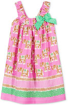 Bonnie Jean Elephant-Print Cotton Dress, Toddler & Little Girls (2T-6X)