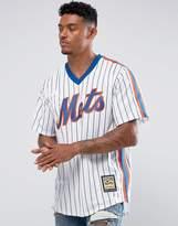 Majestic MLB New York Mets Overhead Baseball Jersey In White